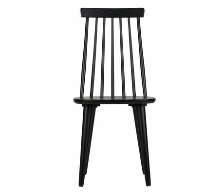 vtwonen Dining chairs Sticks set of 2 black wood 92x43x48cm