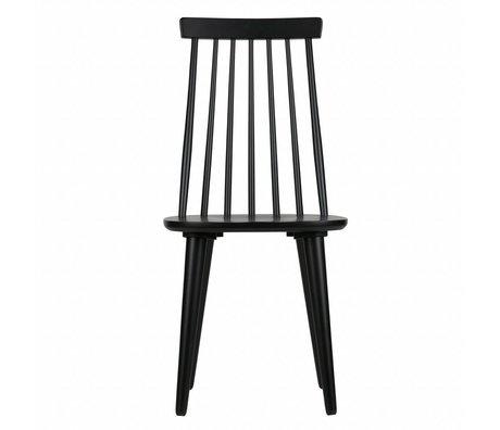 vtwonen Esszimmerstühle Sticks Set von zwei schwarzen Holz 92x43x48cm