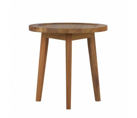 vtwonen Table d'appoint Sprokkeltafel bois naturel S 60x45x45cm