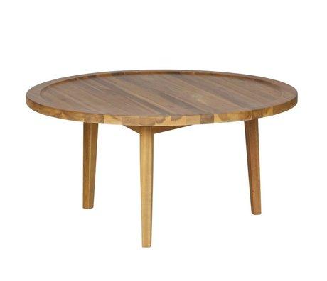 vtwonen Bijzettafel Sprokkeltafel naturel hout M 40x80x80cm