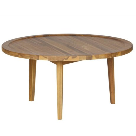 vtwonen Table d'appoint Sprokkeltafel bois naturel M 40x80x80cm