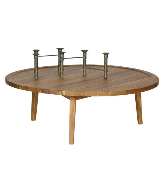 Incredible Vtwonen Side Table Spruce Table Natural Wood L 35X100X100Cm Machost Co Dining Chair Design Ideas Machostcouk