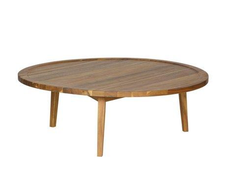 vtwonen Bijzettafel Sprokkeltafel naturel hout L 35x100x100cm
