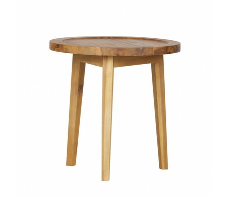 vtwonen Table d'appoint en bois naturel Sprokkeltafel XS 45x45x45cm