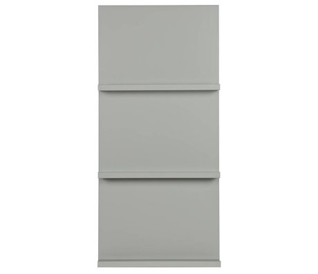 vtwonen Vitrinenständer aus grauem Holz 120x56x10cm