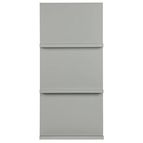 vtwonen Présentoir suspendu en bois gris 120x56x10cm