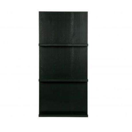 vtwonen Pronkrek suspendu en bois noir 120x56x10cm