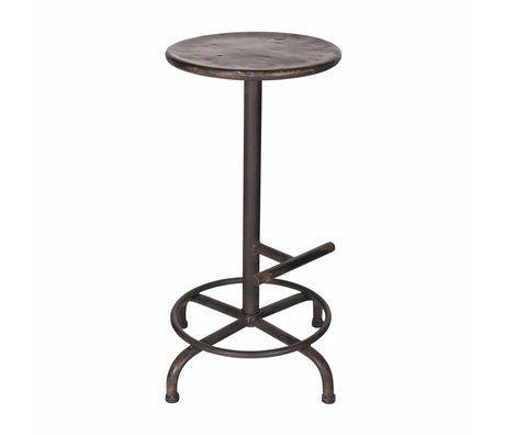 vtwonen Stool step black metal 61x31cm