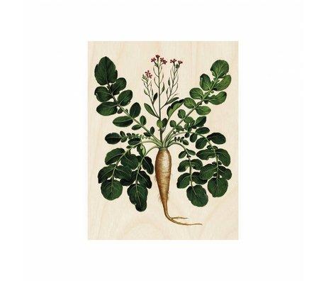 KEK Amsterdam Holzplatte Botanical Wurzelwerk S 45x60cm
