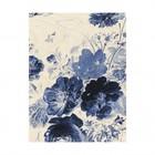 KEK Amsterdam Wooden panel Royal Blue Flowers 3 M 60x80cm
