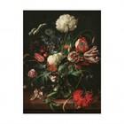 KEK Amsterdam Wooden panel Golden Age Flowers 1 M 60x80cm