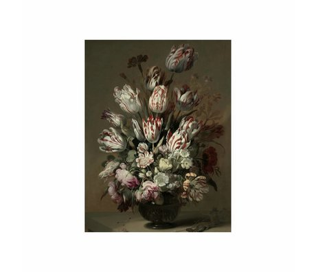 KEK Amsterdam Wooden panel Golden Age Flowers 4 S 45x60cm