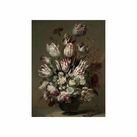 KEK Amsterdam Panneau de bois Golden Age Fleurs 4 S 45x60cm