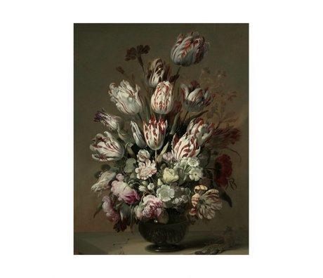 KEK Amsterdam Houten paneel Golden Age Flowers 4 M 60x80cm