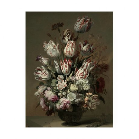 KEK Amsterdam Wooden panel Golden Age Flowers 4 M 60x80cm