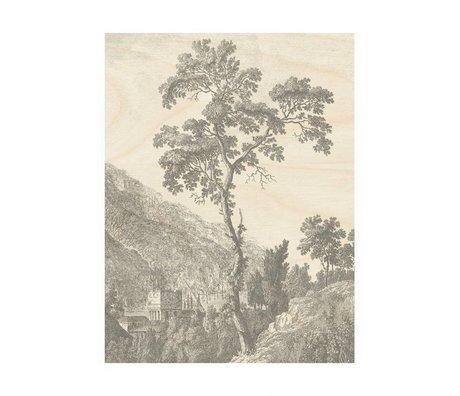 KEK Amsterdam Wood panel Engraved Tree M 60x80cm