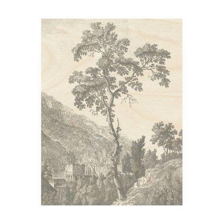KEK Amsterdam Houten paneel Engraved Tree M 60x80cm