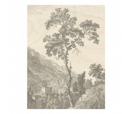 KEK Amsterdam Houten paneel Engraved Tree L 75x100cm
