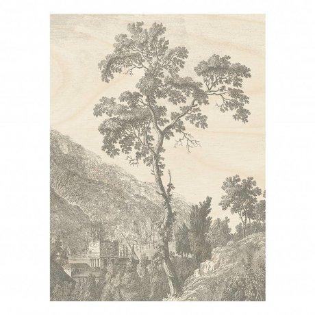 KEK Amsterdam Gravierte Holzplatte Baum L 75x100cm