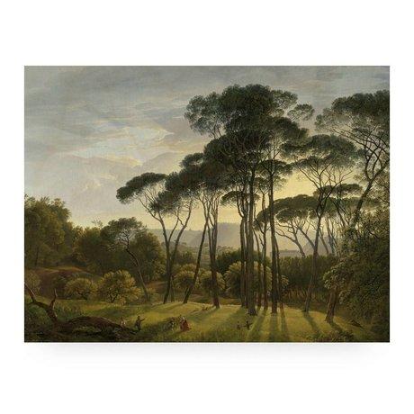 KEK Amsterdam Wooden panel Golden Age Landscape L 100x75cm