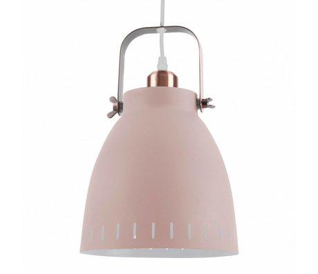 Leitmotiv Hanglamp pendant mingle roze metaal Ø26,5x19x26,5