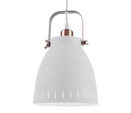Leitmotiv Pendentif Lampe suspension métal blanc se mêlent Ø26,5x19x26,5