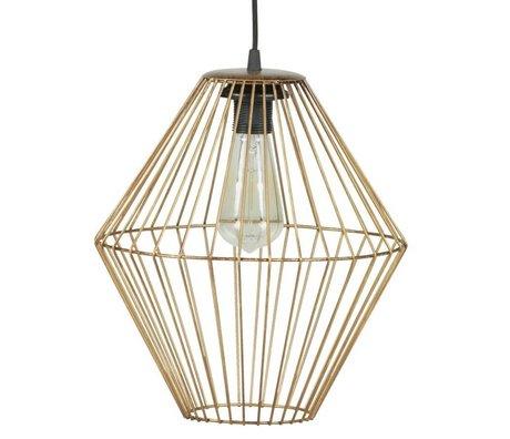 BePureHome Hanglamp Elegant XL brass goud metaal 35x29x29cm