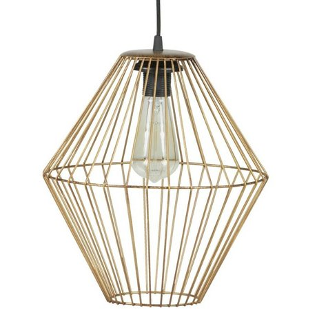BePureHome Lampe suspension métal or laiton élégant XL 35x29x29cm