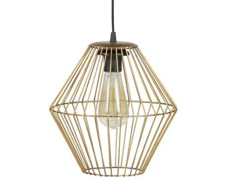 BePureHome Lampe suspension métal or laiton élégant L 29x26x26cm