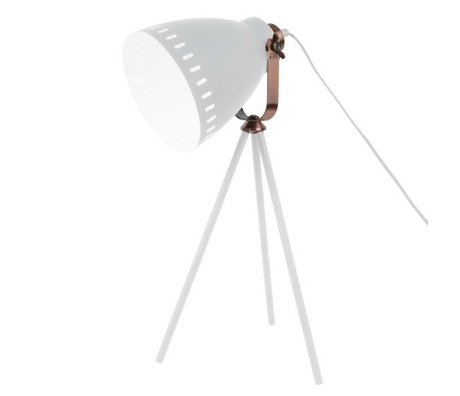 Leitmotiv Tafellamp Mingle wit metaal Ø16.5x54x31cm