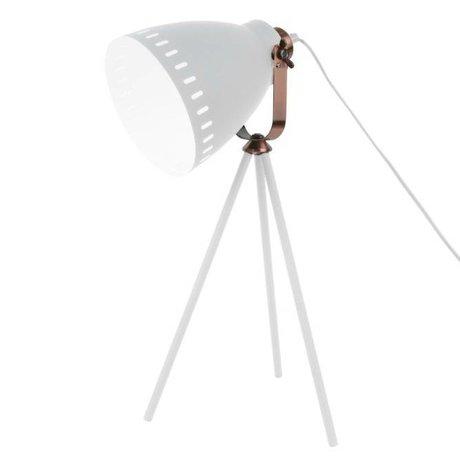 Leitmotiv Tischlampe mischen weißes Metall Ø16.5x54x31cm