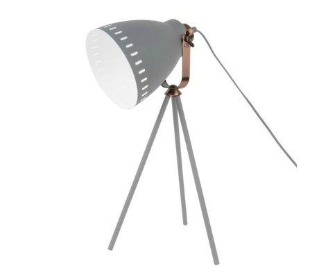 Leitmotiv Table lamp Mingle gray metal Ø16.5x54x31cm