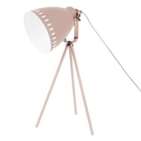 Leitmotiv Lampe de table rose Mingle métal Ø16.5x54x31cm