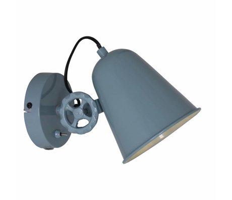 Anne Lighting wandlamp Dolphin groen blauw metaal 14x25cm
