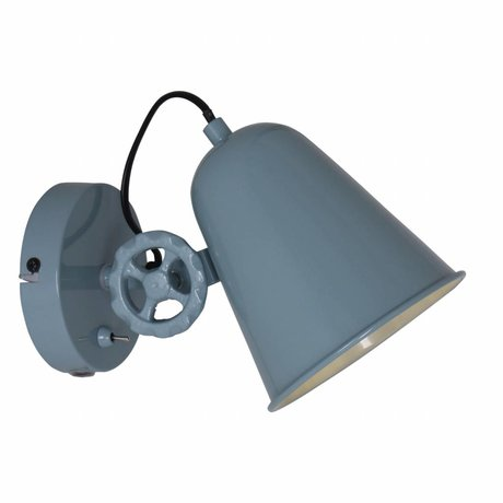 Anne Lighting wall lamp Dolphin green blue metal 14x25cm