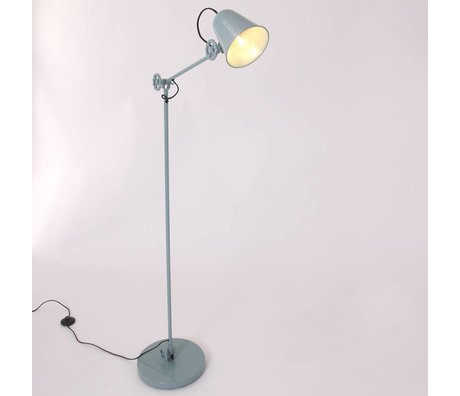 Anne Lighting Lampadaire Dolphin 28x160cm métallique sarcelle