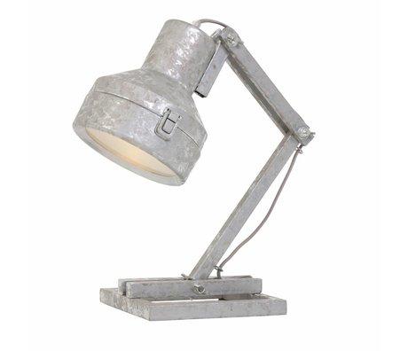 Anne Lighting Lampe de table Stud Baker zinc 18x25x47cm métallique gris