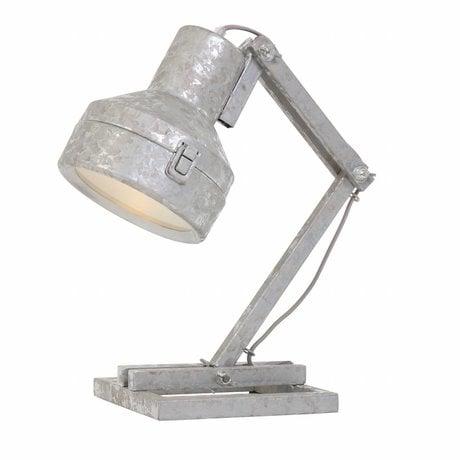Anne Lighting Table lamp Studebaker zinc gray metal 18x25x47cm