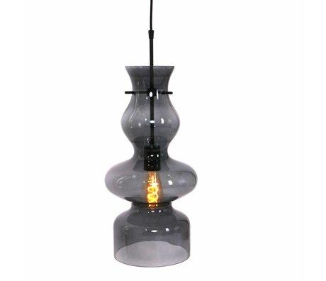 Anne Lighting lampe suspendue Chalise jour & nuit métal verre noir 21x165cm