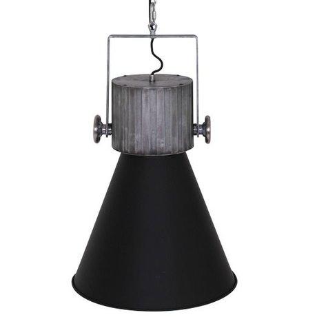 Anne Lighting Hängeleuchte Hoody schwarz Metall 40x155cm
