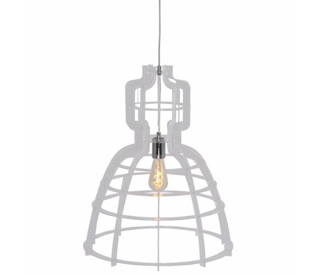 Anne Lighting Lampe à suspension MarkllI 49x152cm métallique synthétique transparent