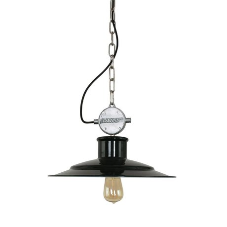 Anne Lighting Suspension Meule 40x195cm métallique noir