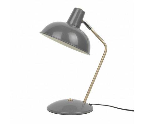 Leitmotiv Lampe de table de capot en métal gris Ø19,5x37,5cm
