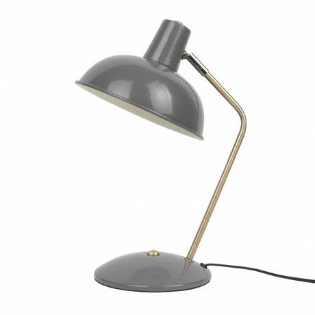Leitmotiv Table lamp Hood gray metal Ø19,5x37,5cm