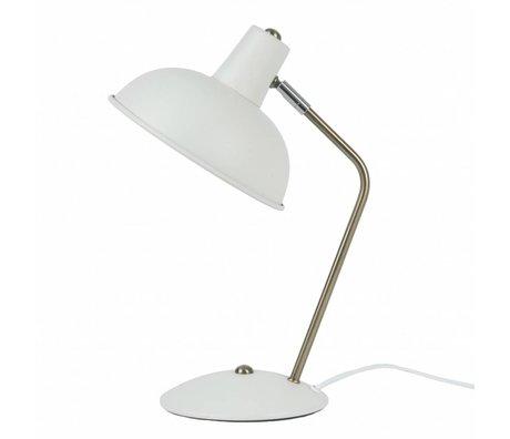Leitmotiv Lampe de table d'ouverture de capot en métal blanc Ø19,5x37,5cm