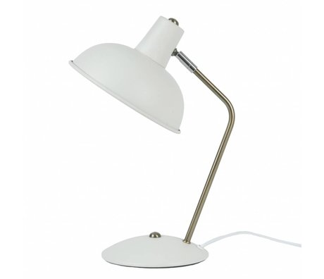 Leitmotiv Tafellamp Hood wit metaal Ø19,5x37,5cm