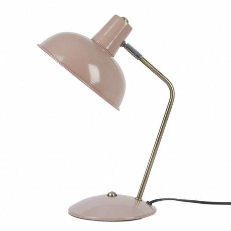 Leitmotiv Tischlampe Hood rosa Metall Ø19,5x37,5cm