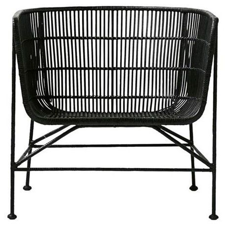 Housedoctor Chair Coon black rattan 60.5x70x70cm