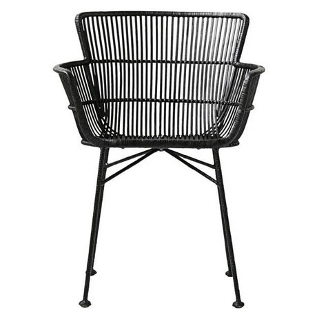 Housedoctor Dining chair Coon black rattan 60,5x80x62cm
