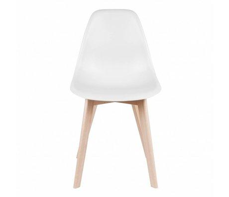 Leitmotiv Esszimmerstuhl Grund weißen Kunststoff Holz 80x48x38cm